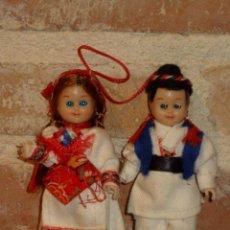 Muñecas Celuloide: PAREJA DE MUÑECOS DE CELULOIDE TRAJE REGIONAL.. Lote 39701932