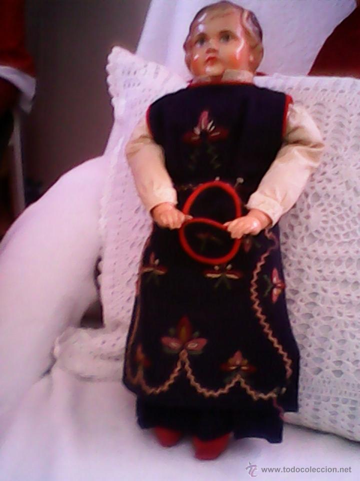 Muñecas Celuloide: ANTIGUA MUÑECA HECHA DE SERRÍN EL BUSTO Y LAS MANOS DE celuloide ,AÑOS 40 - Foto 5 - 40455251