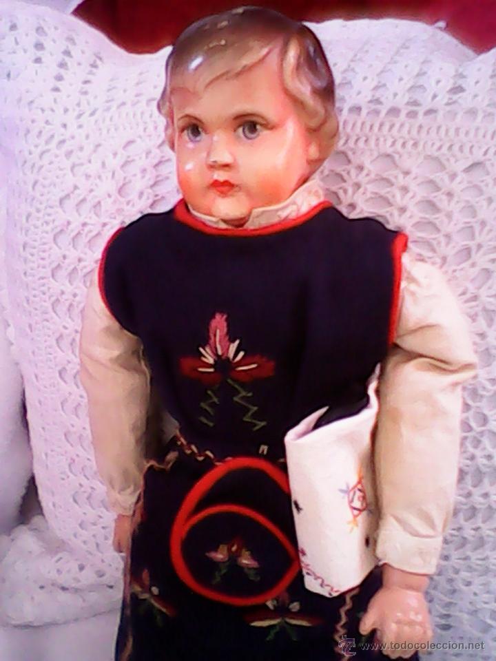 Muñecas Celuloide: ANTIGUA MUÑECA HECHA DE SERRÍN EL BUSTO Y LAS MANOS DE celuloide ,AÑOS 40 - Foto 6 - 40455251