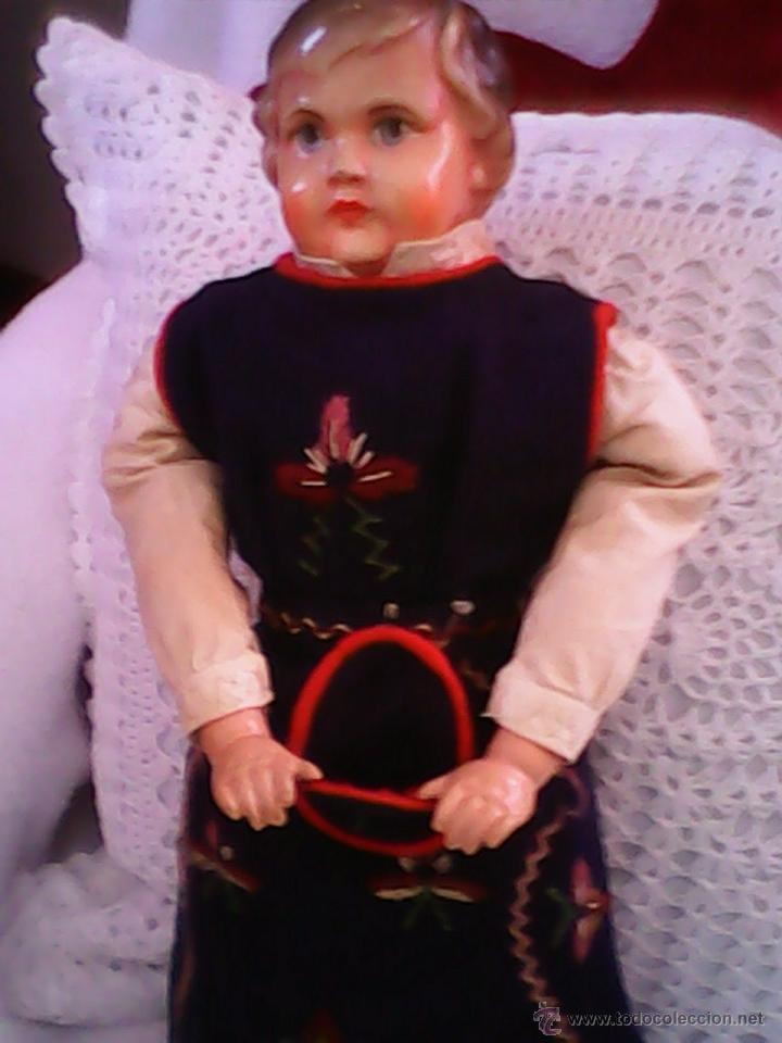 Muñecas Celuloide: ANTIGUA MUÑECA HECHA DE SERRÍN EL BUSTO Y LAS MANOS DE celuloide ,AÑOS 40 - Foto 9 - 40455251