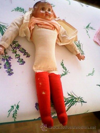 Muñecas Celuloide: ANTIGUA MUÑECA HECHA DE SERRÍN EL BUSTO Y LAS MANOS DE celuloide ,AÑOS 40 - Foto 14 - 40455251