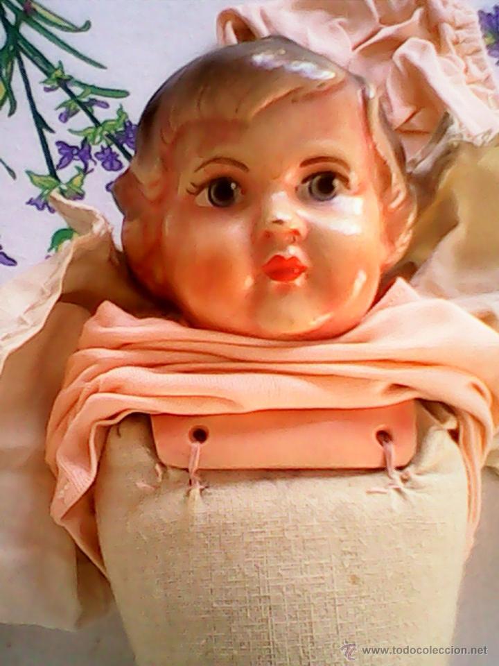 Muñecas Celuloide: ANTIGUA MUÑECA HECHA DE SERRÍN EL BUSTO Y LAS MANOS DE celuloide ,AÑOS 40 - Foto 15 - 40455251