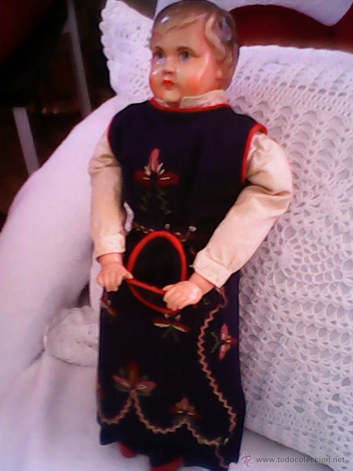 Muñecas Celuloide: ANTIGUA MUÑECA HECHA DE SERRÍN EL BUSTO Y LAS MANOS DE celuloide ,AÑOS 40 - Foto 16 - 40455251