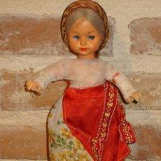 Muñecas Celuloide: PRECIOSA MUÑECA ANTIGUA DE CELULOIDE. CAMPESINA. Lote 41462386