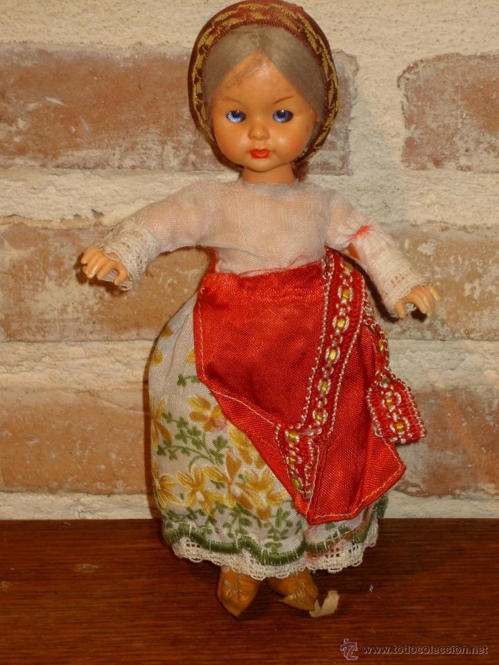 Muñecas Celuloide: PRECIOSA MUÑECA ANTIGUA DE CELULOIDE. CAMPESINA - Foto 4 - 41462386