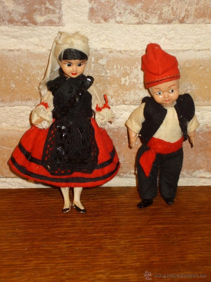 Muñecas Celuloide: ANTIGUO PAREJA DE MUÑECOS DE CELULOIDE TRAJE REGIONAL.ASTURIANOS O GALLEGOS - Foto 2 - 41462405