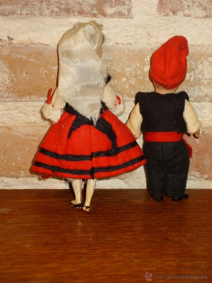 Muñecas Celuloide: ANTIGUO PAREJA DE MUÑECOS DE CELULOIDE TRAJE REGIONAL.ASTURIANOS O GALLEGOS - Foto 3 - 41462405