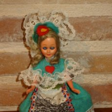 Muñecas Celuloide: ANTIGUA MUÑECA DE CELULOIDE.OJOS DURMIENTES . PRECIOSO ATUENDO. Lote 41462408
