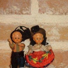 Muñecas Celuloide: ANTIGUA PAREJA DE MUÑECOS DE CELULOIDE. OJOS DURMIENTES. Lote 41462603
