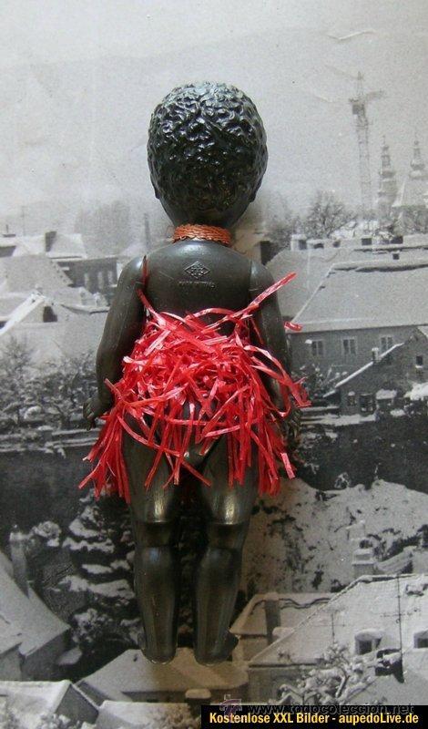 Muñecas Celuloide: Muñeca de celuloide negra , 17 cm Made in italy , ojos moviles MQ HQ - Foto 2 - 41738216