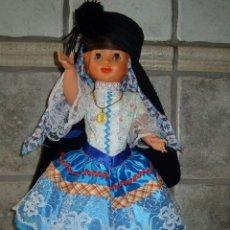 Muñecas Celuloide: MUÑECA OJOS DURMIENTES ATUENDO ORIGINAL . PORTUGAL. Lote 43628983