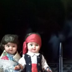 Muñecas Celuloide: PAREJA MUÑECOS CELULOIDE ANTIGUOS AÑOS 20 16CM. Lote 46455802