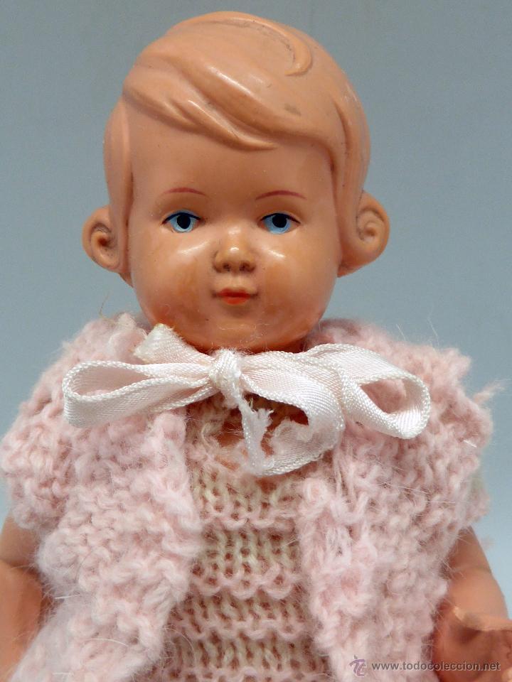 Muñecas Celuloide: Muñeca celuloide La Tortuga Schildkrot Puppe Germany marca espalda 18 1/2 19 años 30 con traje lana - Foto 2 - 50929754