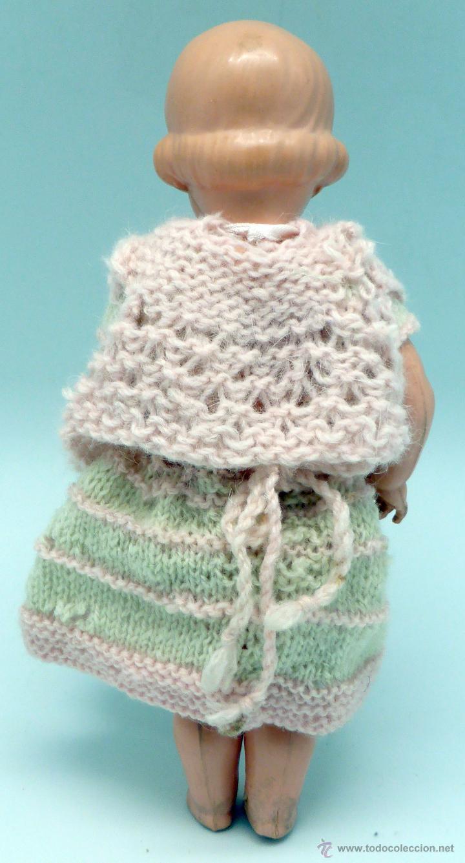 Muñecas Celuloide: Muñeca celuloide La Tortuga Schildkrot Puppe Germany marca espalda 18 1/2 19 años 30 con traje lana - Foto 3 - 50929754