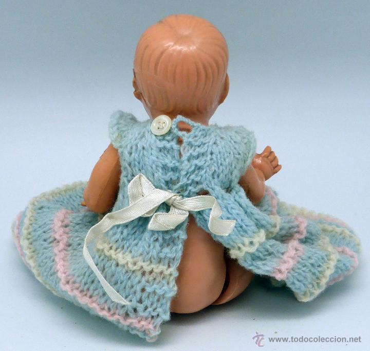 Muñecas Celuloide: Muñeco bebé celuloide La Tortuga Schildkrot Puppe Germany marca espalda 16 1/2 años 30 traje lana - Foto 5 - 50929807