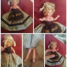 Muñecas Celuloide: ANTIGUA MUÑECA ATAVIADA TRAJE TÍPICO. FRANCIA. 10 CM.. Lote 51091671