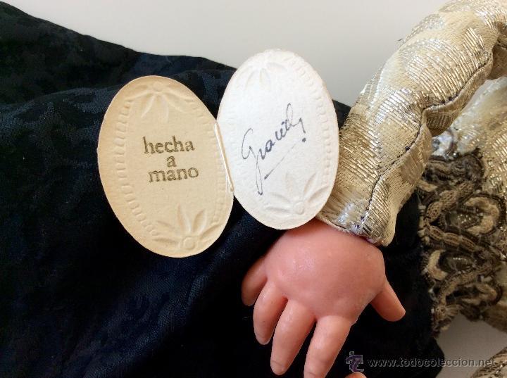 Muñecas Celuloide: Muñeca trapo hecha a mano con cara de celuloide y manos de plástico. Pelo de mohair y ojos googli. - Foto 4 - 77905998