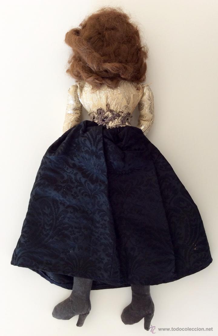 Muñecas Celuloide: Muñeca trapo hecha a mano con cara de celuloide y manos de plástico. Pelo de mohair y ojos googli. - Foto 5 - 77905998