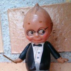 Muñecas Celuloide: FIGURA MUÑECO KEWPIE PINTADO A MANO ANTIGUO GERMANY PLÁSTICO CELULOIDE DIRECTOR DE ORQUESTA . Lote 54438304