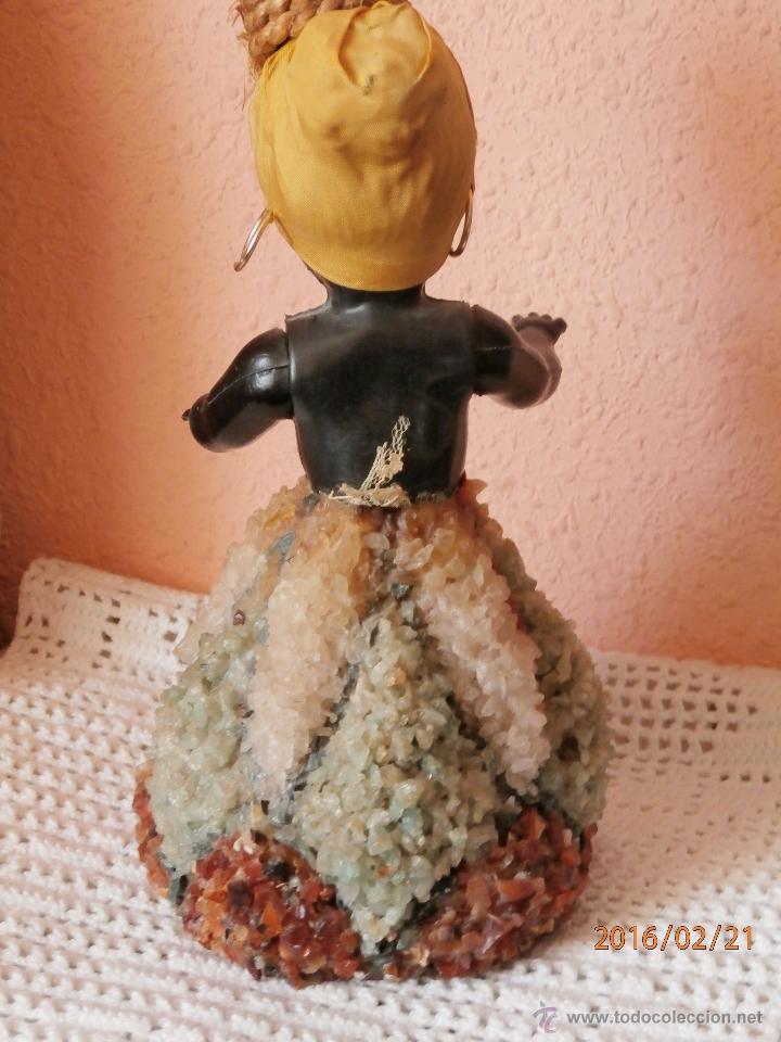 Muñecas Celuloide: ANTIGUA MUÑECA NEGRITA de CELULOIDE con FALDA DE CRISTAL Y CUARZOS - Foto 6 - 54622364