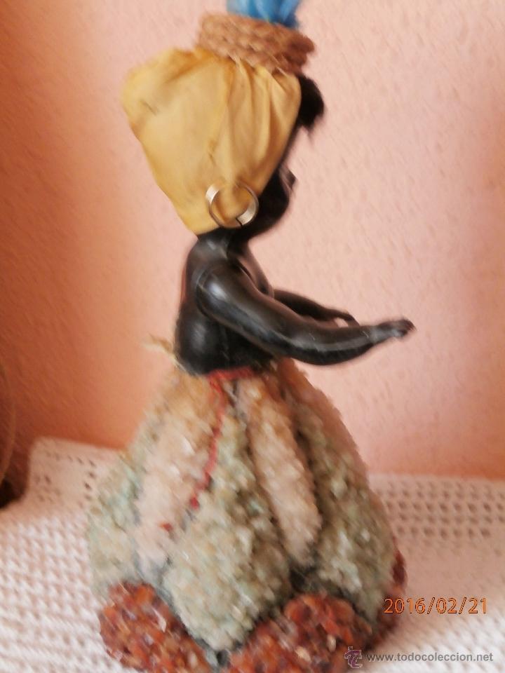 Muñecas Celuloide: ANTIGUA MUÑECA NEGRITA de CELULOIDE con FALDA DE CRISTAL Y CUARZOS - Foto 7 - 54622364