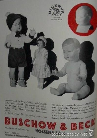 Muñecas Celuloide: Precioso muñeco alemán MINERVA años 20, todo de celuloide ojos cristal marcado nuca y espalda - Foto 4 - 59152105