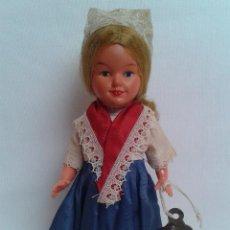 Muñecas Celuloide: ANTIGUA MUÑECA DE CELULOIDE A CUERDA. Lote 59785920