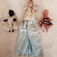 Muñecas Celuloide: BONITO LOTE DE TRES BEBES ANTIGUOS EN CELULOIDE. Lote 60458679