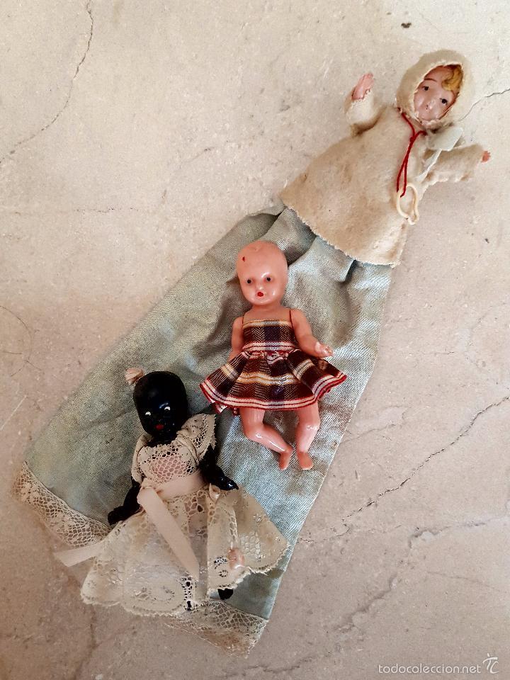 Muñecas Celuloide: BONITO LOTE DE TRES BEBES ANTIGUOS EN CELULOIDE - Foto 10 - 60458679