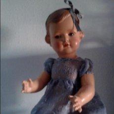 Muñecas Celuloide: IMPRESIONANTE MUÑECA NIÑA ALEMANA ,MUY DIFÍCIL DE CONSEGUIR ,AÑOS 1930, 50 CM. Lote 66484082