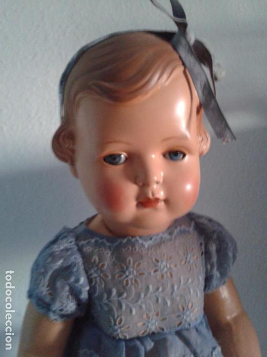 Muñecas Celuloide: IMPRESIONANTE MUÑECA NIÑA ALEMANA ,MUY DIFÍCIL DE CONSEGUIR ,AÑOS 1930, 50 CM - Foto 3 - 66484082