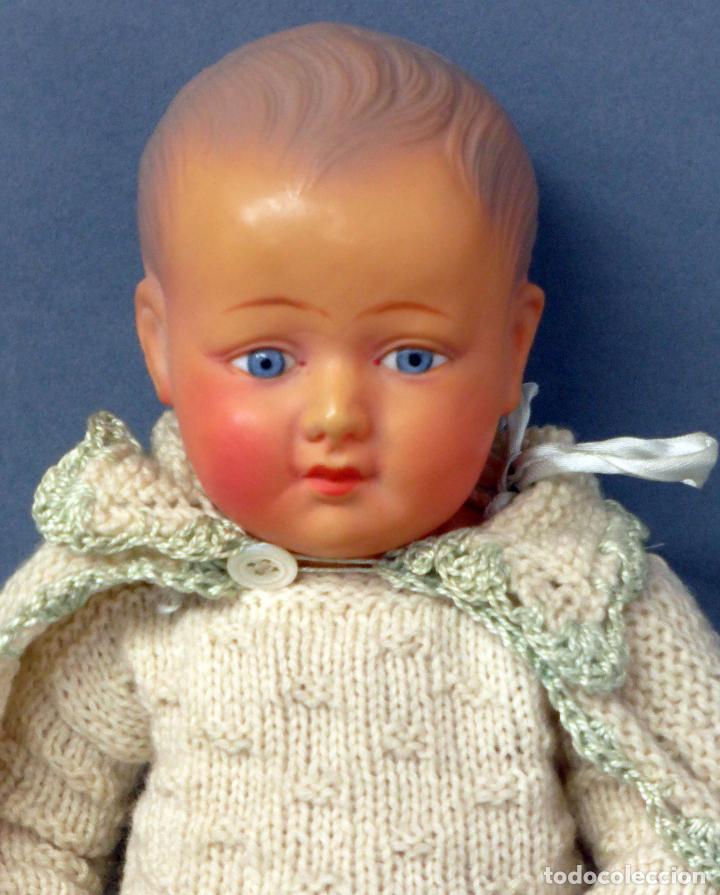 Muñecas Celuloide: Bebé francés celuloide Petitcollin Baigneur años 30 marca espalda France 32 1/2 ojo cristal 32 cm - Foto 2 - 67268005