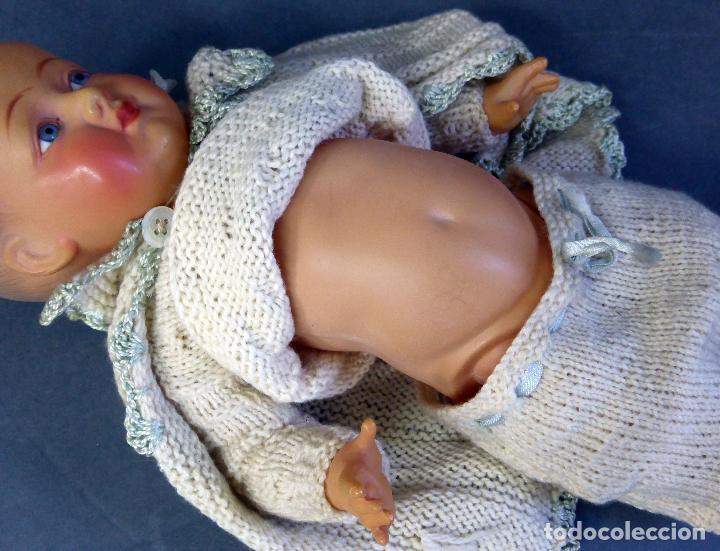 Muñecas Celuloide: Bebé francés celuloide Petitcollin Baigneur años 30 marca espalda France 32 1/2 ojo cristal 32 cm - Foto 7 - 67268005