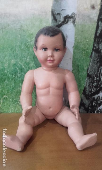 Muñecas Celuloide: Antiguo muñeco de celuloide (70 cm, años 50) - Foto 14 - 201524301