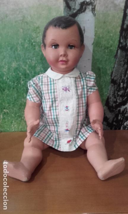 Muñecas Celuloide: Antiguo muñeco de celuloide (70 cm, años 50) - Foto 2 - 201524301