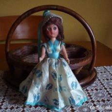 Muñecas Celuloide: MUÑECA ANTIGUA CARA DE CELULOIDE OJOS AZULES DURMIENTES. Lote 69404225