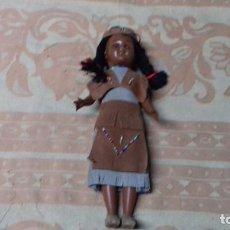 Muñecas Celuloide: ANTIGUA MUÑECA INDIA CELULOIDE. 27 CM. OJOS DURMIENTES.. Lote 72888431