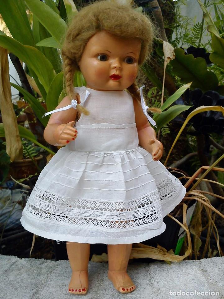 Muñecas Celuloide: Antigua muñeca de celuloide con pelo mohair - Foto 2 - 82138292