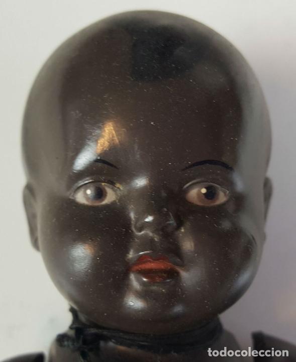 Muñecas Celuloide: MUÑECO NEGRITO. CELULOIDE. MARCA TORTUGA. ALEMANIA. CIRCA 1940. - Foto 3 - 83456840