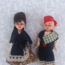 Muñecas Celuloide: ANTIGUAS MUÑECAS MUÑECOS REGIONALES DE CELULOIDE ORIGINALES AÑOS 50 EN MUY BUEN ESTADO. Lote 87679320