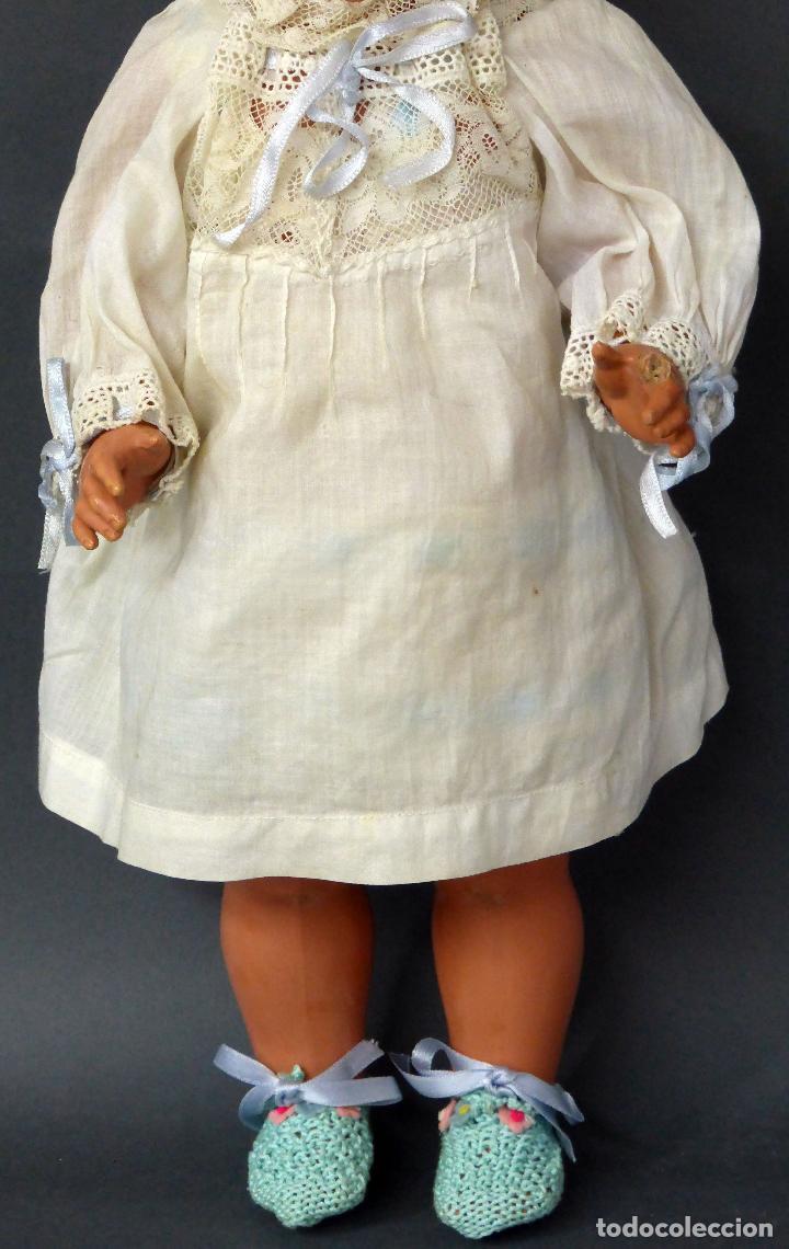 Muñecas Celuloide: Muñeca celuloide La Tortuga 45 Schildkrot marca espalda ropa original años 30 45 cm alto - Foto 3 - 88976408
