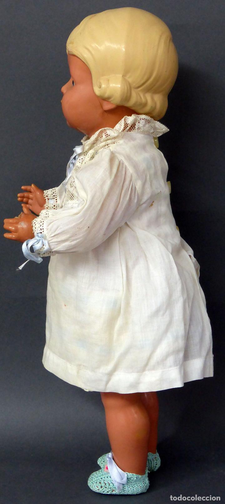 Muñecas Celuloide: Muñeca celuloide La Tortuga 45 Schildkrot marca espalda ropa original años 30 45 cm alto - Foto 4 - 88976408