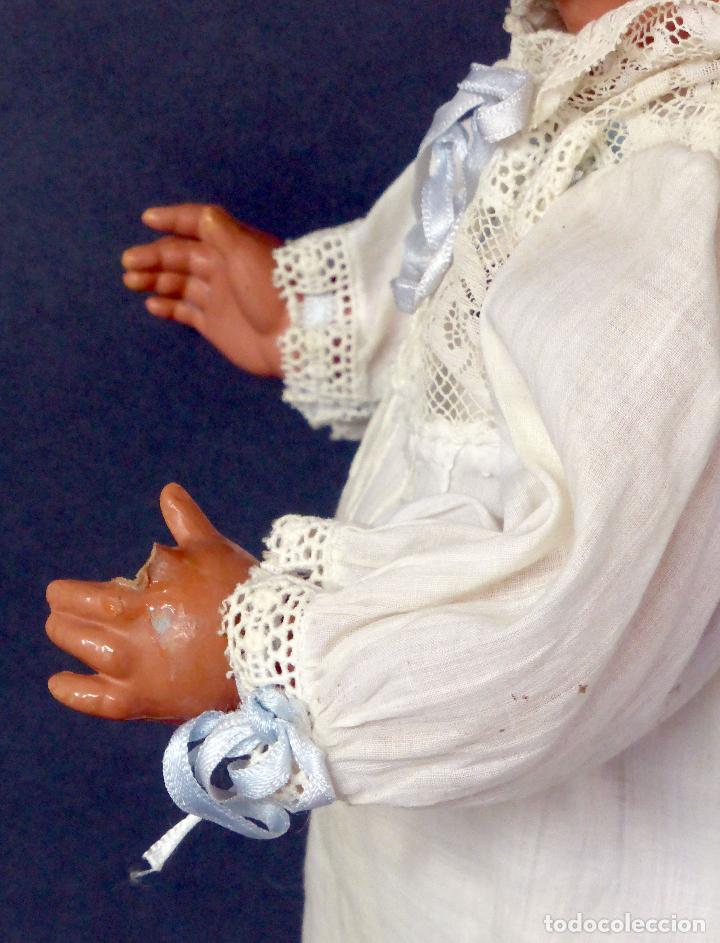 Muñecas Celuloide: Muñeca celuloide La Tortuga 45 Schildkrot marca espalda ropa original años 30 45 cm alto - Foto 5 - 88976408