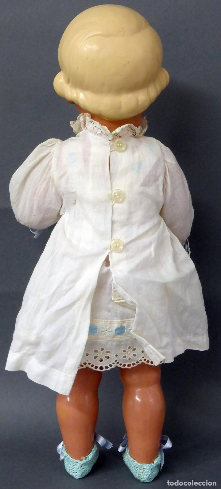 Muñecas Celuloide: Muñeca celuloide La Tortuga 45 Schildkrot marca espalda ropa original años 30 45 cm alto - Foto 6 - 88976408