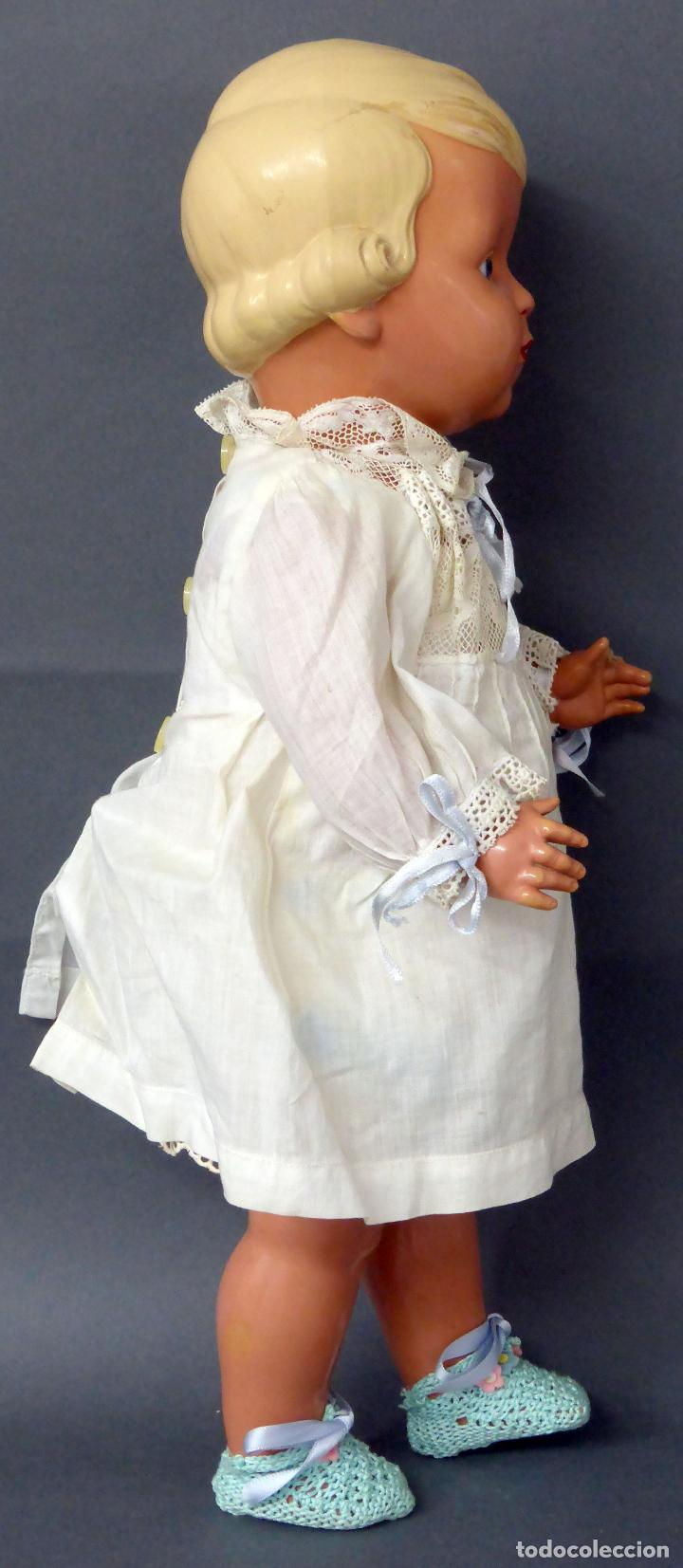 Muñecas Celuloide: Muñeca celuloide La Tortuga 45 Schildkrot marca espalda ropa original años 30 45 cm alto - Foto 7 - 88976408