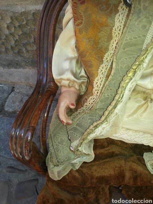 Muñecas Celuloide: Muñeca de celuloide con sillon de mimbre - Foto 3 - 89175852