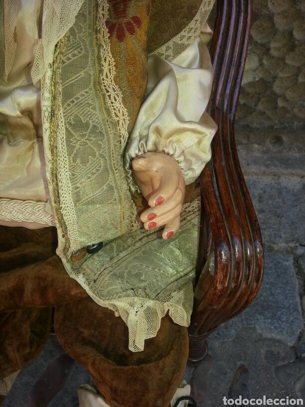 Muñecas Celuloide: Muñeca de celuloide con sillon de mimbre - Foto 4 - 89175852