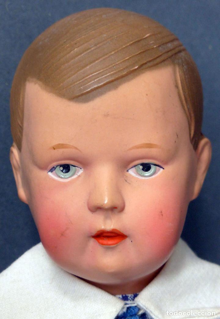 Muñecas Celuloide: Niño celuloide La Tortuga 102/9 Schildkrot Germany y cuerpo trapo marca nuca ropa original años 30 - Foto 3 - 89646976
