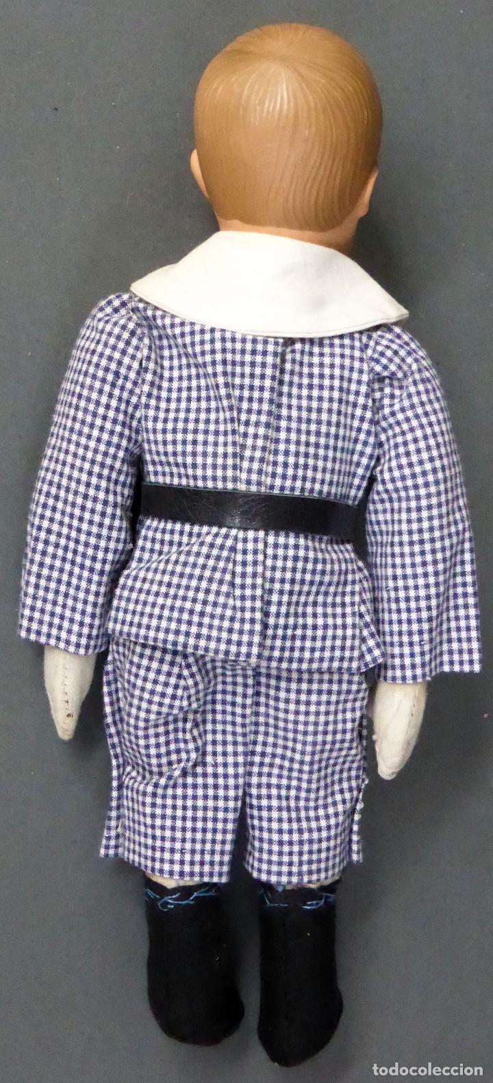 Muñecas Celuloide: Niño celuloide La Tortuga 102/9 Schildkrot Germany y cuerpo trapo marca nuca ropa original años 30 - Foto 4 - 89646976