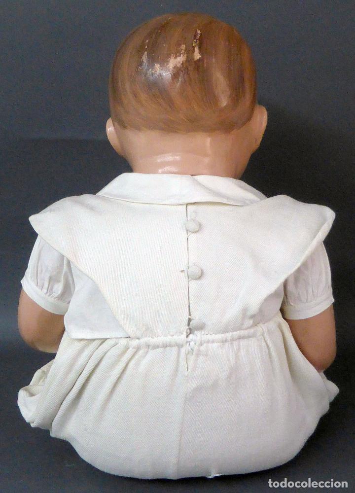 Muñecas Celuloide: Bebé celuloide con cuerpo trapo ojos fijos tamaño grande ropa original años 30 61 cm alto - Foto 6 - 89748032